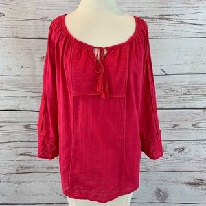 Lucky Brand tunic style top large pink